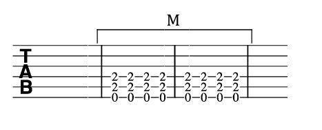 ブリッジミュートのTAB譜2