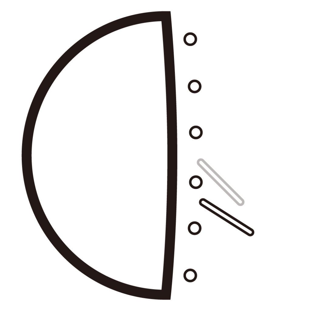ブリッジミュートのピッキング角度