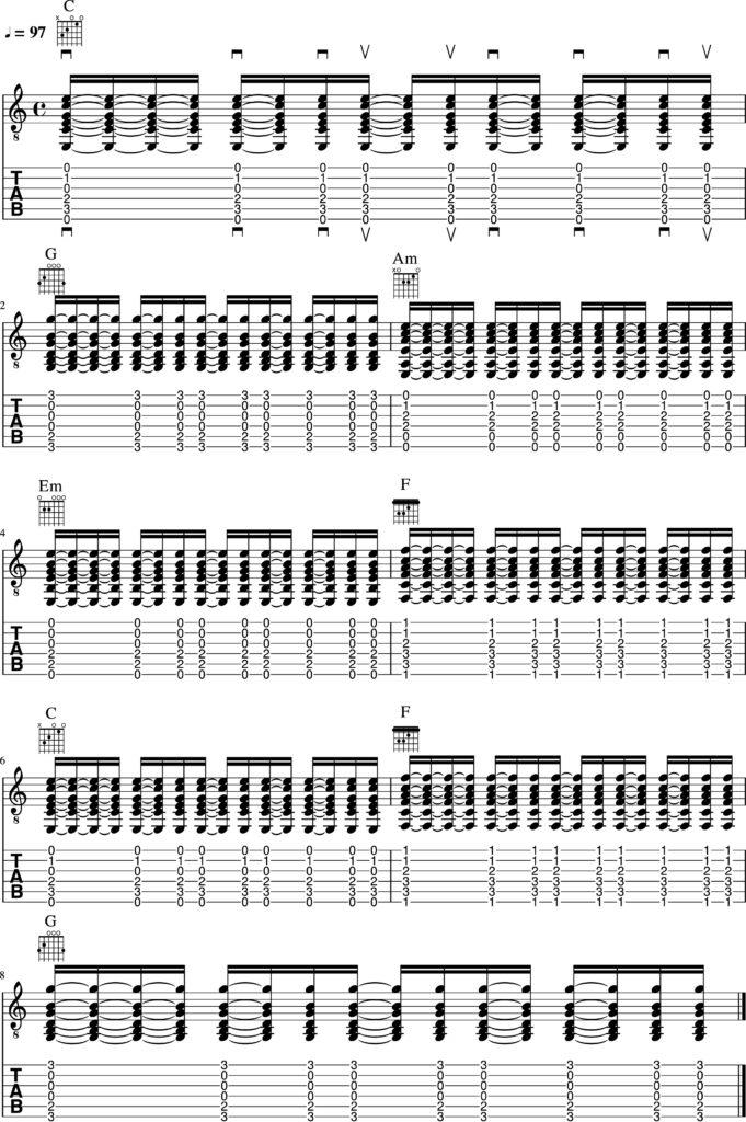スピッツ/チェリーのAメロTAB譜