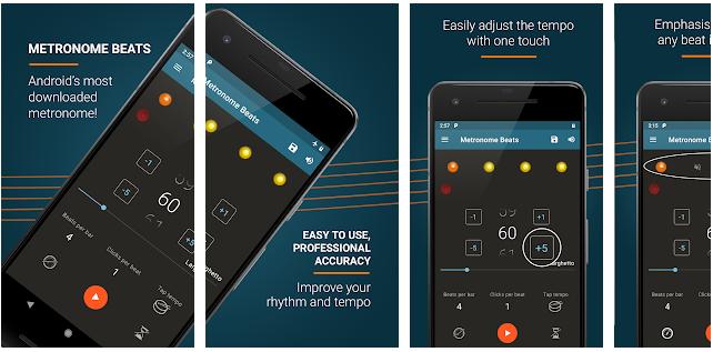 メトロノームのビート アプリ画面