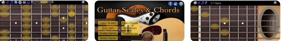 ギタースケールとコード アプリ画面