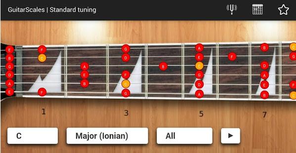 GuitarScales アプリ画面