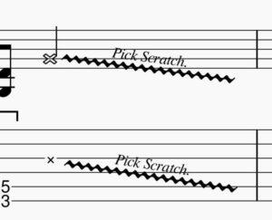 ピックスクラッチの譜面