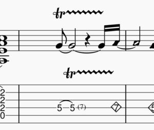 トリルの譜面